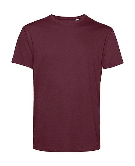 """Tee-shirt éthique """"burgundy"""" pièce unique"""