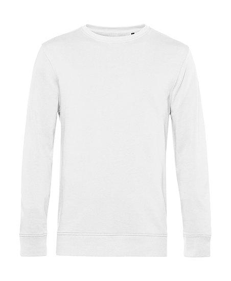 Sweatshirt éthique French Terry blanc 10 pièces