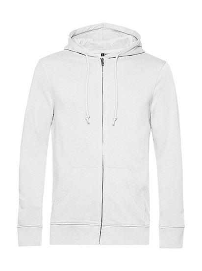 Sweatshirt French Terry Zipped éthique blanc pièce unique