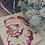 Thumbnail: Sac cadeau brodé Père Noël vintage réutilisable 0 déchet