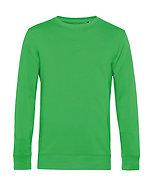 Sweatshirt éthique French Terry vert pomme pièce unique