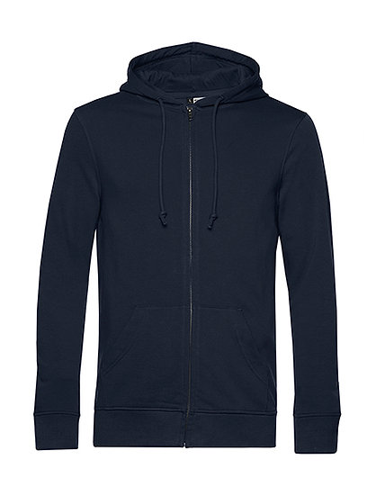"""Sweatshirt French Terry Zipped éthique bleu """"navy"""" pièce unique"""