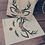 Thumbnail: Sac cadeau brodé renne de Noël réutilisable 0 déchet