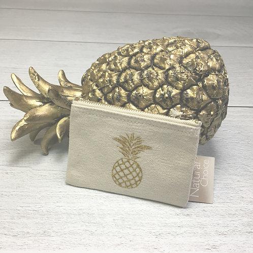 Mini pochette éthique ananas pailleté