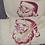 Thumbnail: Vide-poche en coton brodé père noël et sa serviette invité