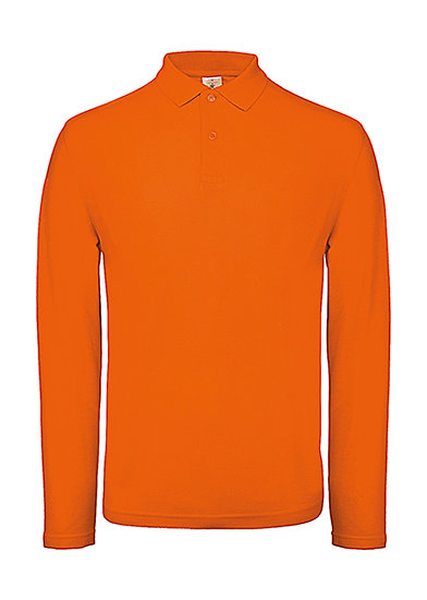 Polo premium manches longues orange 100 pièces