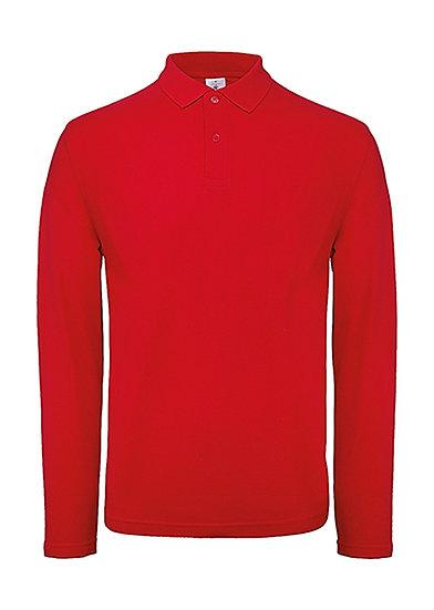 Polo premium manches longues rouge 100 pièces