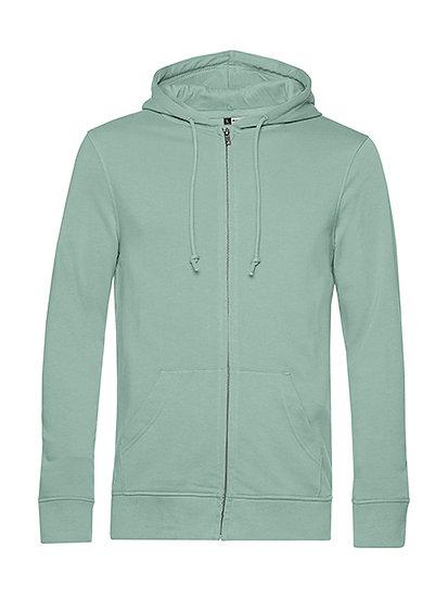 """Sweatshirt French Terry Zipped éthique vert """"sage"""" 10 pièces"""