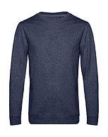 "Sweatshirt French Terry ""heather navy"" pièce unique"