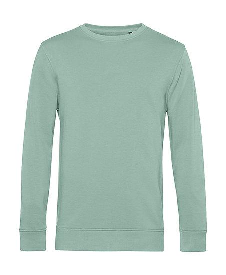 """Sweatshirt éthique French Terry vert """"sage"""" 50 pièces"""
