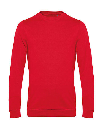 Sweatshirt French Terry rouge 50 pièces