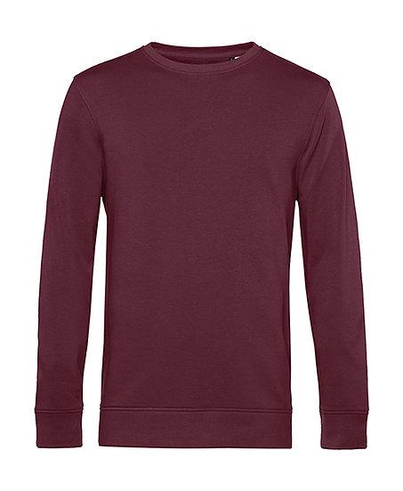 """Sweatshirt éthique French Terry """"burgundy"""" pièce unique"""