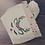 Thumbnail: Vide-poche en coton brodé renne et sa serviette invité