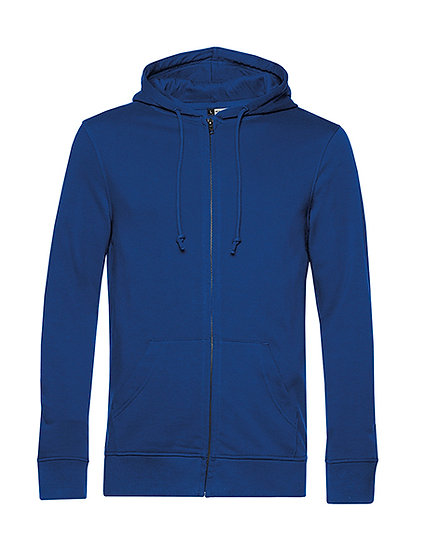 "Sweatshirt French Terry Zipped éthique bleu ""royal"" 10 pièces"