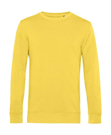 """Sweatshirt éthique French Terry jaune """"fizz"""" pièce unique"""
