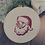 Thumbnail: Cadre en bois brodé Père Noël