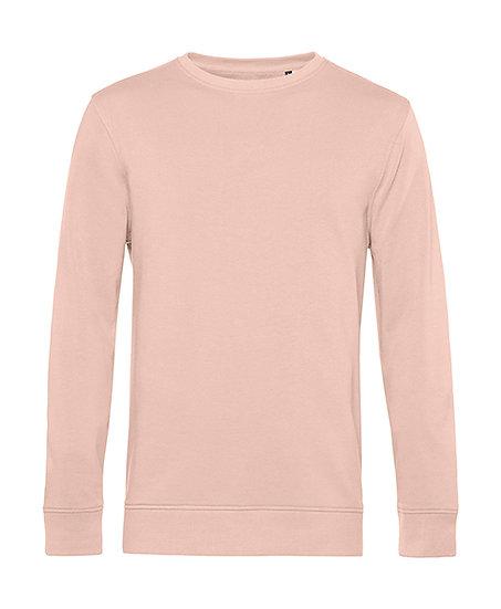 """Sweatshirt éthique French Terry rose """"soft"""" pièce unique"""