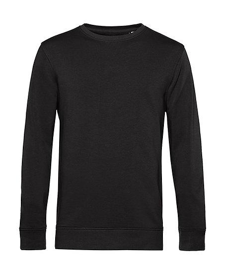 Sweatshirt éthique French Terry noir pièce unique