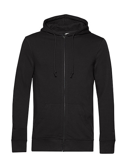 Sweatshirt French Terry Zipped éthique noir 50 pièces