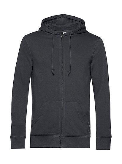 """Sweatshirt French Terry Zipped éthique gris """"asphalt"""" 100 pièces"""