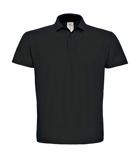 Polo premium noir pièce unique