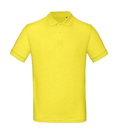 """Polo éthique """"solar yellow"""" pièce unique"""