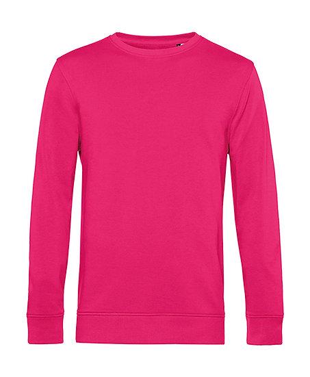 Sweatshirt éthique French Terry rose magenta pièce unique