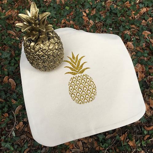 Sac éthique ananas or pailleté
