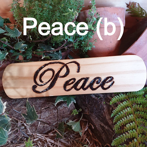 Wooden Plaque /Peace (b)