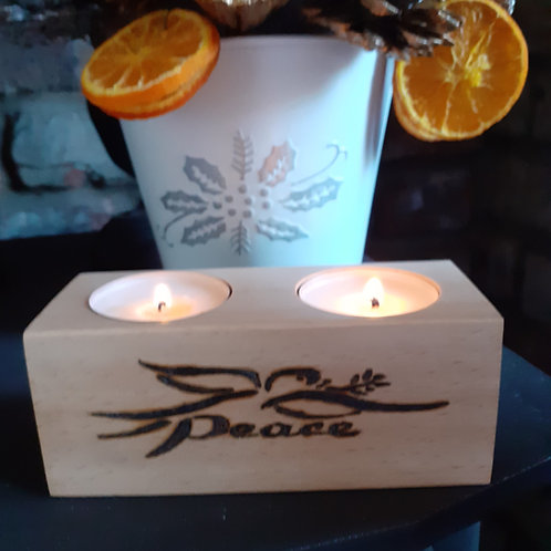 Peace Candle Holder  (12x5x5cm)