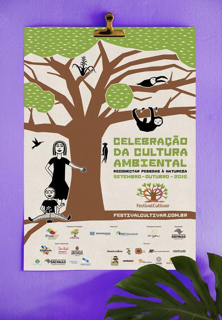 Instituto Árvores Vivas - Cartaz Festival Cultivar