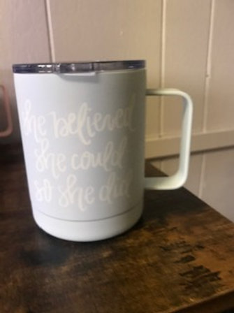 She Believed She Could So She Did Insulated Mug