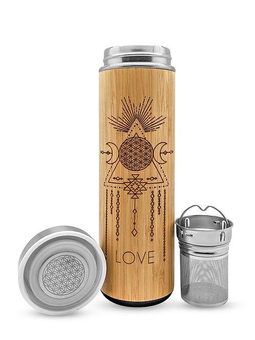 15.2oz Bamboo Tumbler - Love - Bhavana Bottle