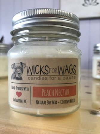 Peach Nectar - Wicks for Wags Candle