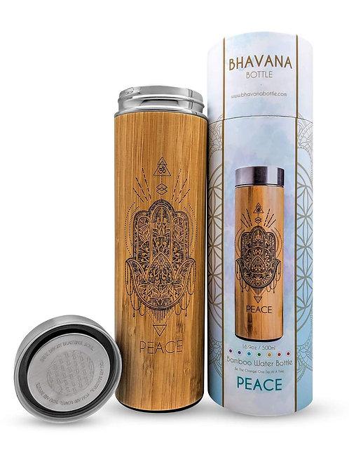 16.9oz Bamboo Tumbler - Peace - Bhavana Bottle