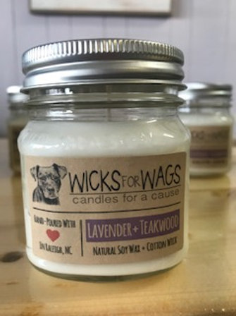 Lavender & Teakwood - Wicks for Wags Candle