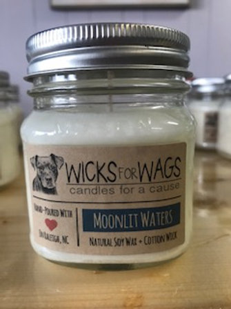 Moonlit Waters - Wicks for Wags Candle