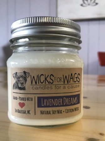 Lavender Dreams - Wicks for Wags Candle