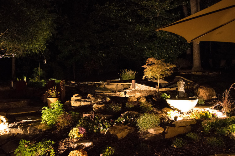 Outdoor garden lights - on timer