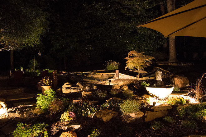 Outdoor garden lights - on timer