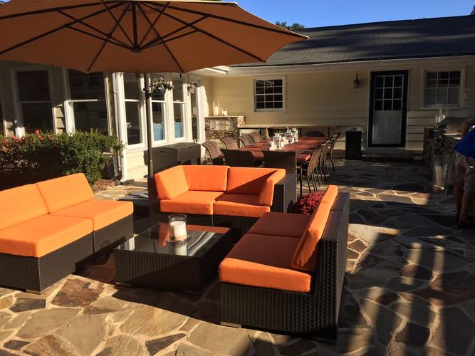 outdoor conversation area