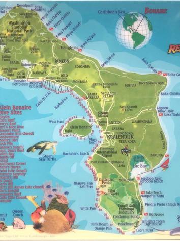 Bonaire dive map 1