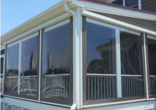 ROLL-UP VINYL FOR DECK, PORCH OR PATIOS