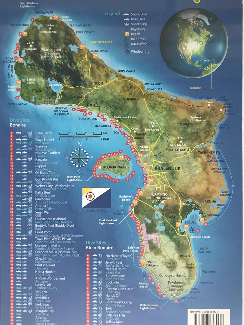 Bonaire dive map 2