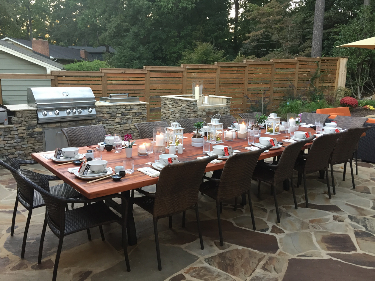outdoor table - seats 14