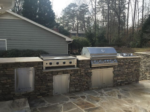 Cooking Station - griddle, grill, double burner and dutch oven station