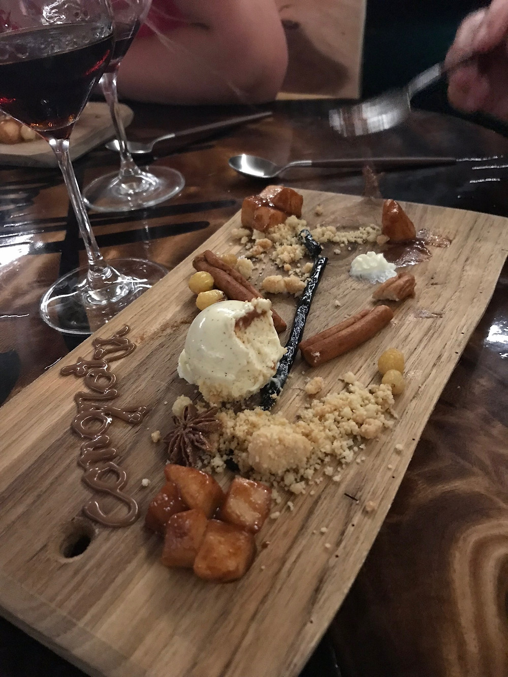 Deconstructed apple pie at Brass Boer