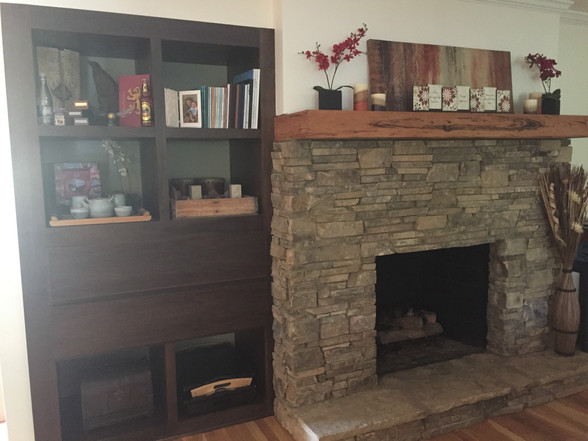 indoor working fireplace