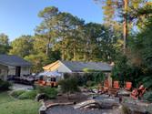 Large, zen backyard