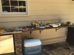 buffet table & use of cooler